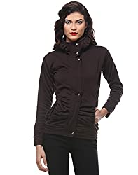 PURYS Coffee Brown zip up Fleece jacket