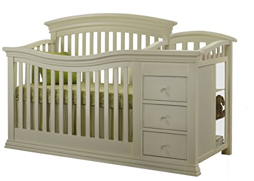 Sorelle Verona 4-in-1 Convertible Crib and Changer, French White - 1