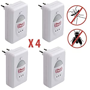 Pest Reject - Répulsif Electronique - Eloigne les Rongeurs et Insectes - Pack de 4