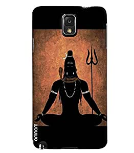 Omnam Lord Shiva Meditating Effect Printed Designer Back Cover Case For Samsung Galaxy Note 3