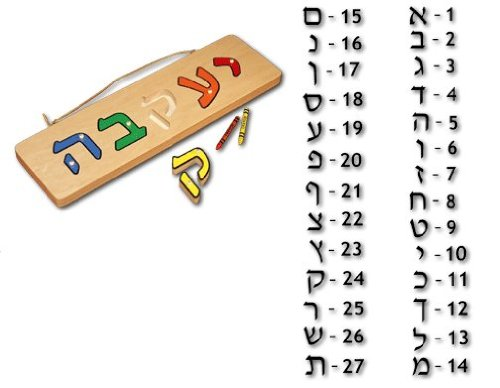 Cheap Damhorst Toys personalized hebrew name puzzle (B003TXL77K)