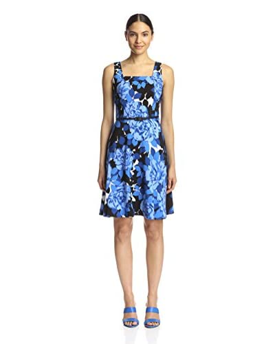 London Times Women's Printed Flare Dress