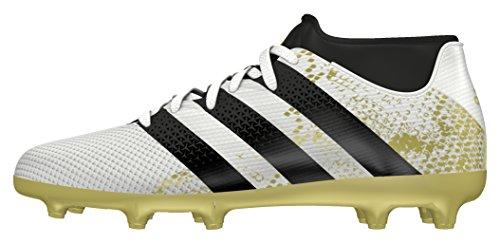 Adidas Ace 16.3 Primemesh Fg, Scarpe da Calcio Bambino, Bianco (Ftwr White/Core Black/Gold Met), 37 1/3 EU