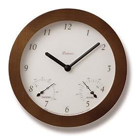 【クリックで詳細表示】Lemnos Mignon 温室度計付時計 ブラウン PC07-08 BW: ホーム&キッチン