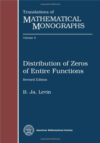 Distribution of zeros of entire functions