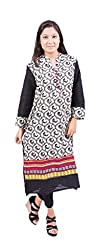 Krivi By Kk Women's Cotton Kurti (KRV-29-C_Multi-Coloured_L)