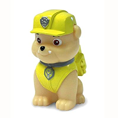 Illumi-Mates Paw Patrol Official Childrens Rubble Colour Changing Bedside Lamp