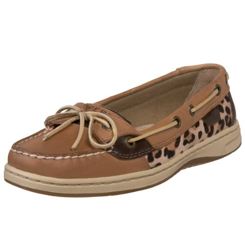 Sperry Womens Angelfish Linen/Leop Pony 11