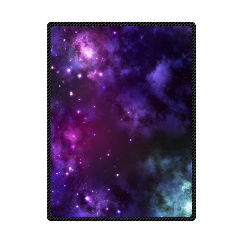 Galaxy Space Universe 58 Inches X 80 Inches (Large) Fleece Blanket front-4787