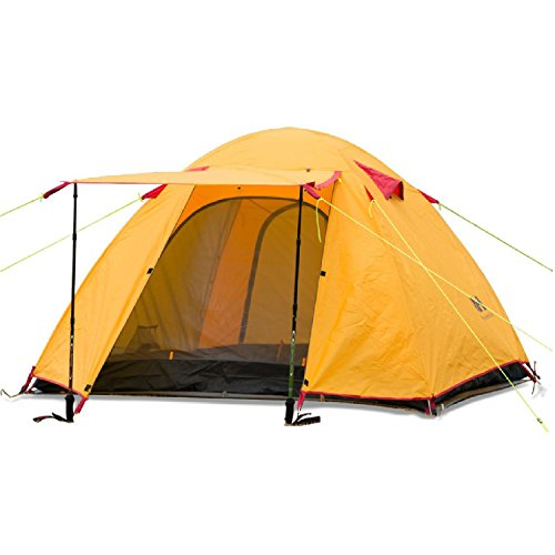 Weanas Waterproof Double Layer 2 3 4 Person 3 Season Backpacking Tent