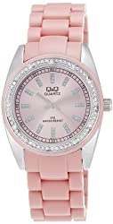 Q&Q Analog Pink Dial Womens Watch - GQ13J212Y
