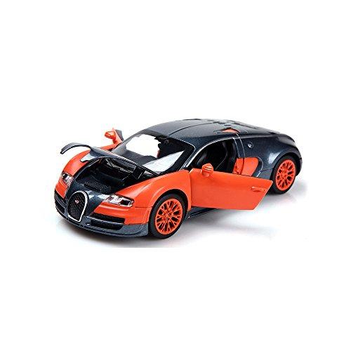 New style 1:32 Bugatti Veyron Alloy Diecast car model collection light&sound Orange (Bugatti Veyron Model Car compare prices)