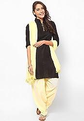 Castle Women's Salwar With Dupatta (Lemon_Free Size)