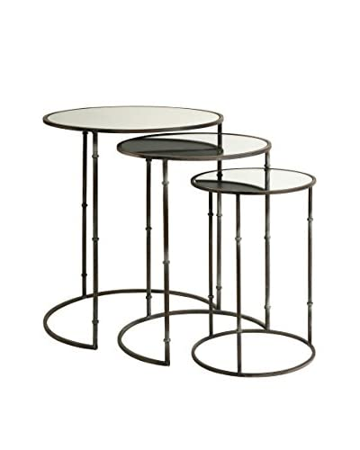 Set of 3 Flouressa Mirror Top Nesting Tables