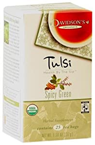 Davidsons Tea Tulsi Spicy Green 25-count Tea Bags Pack Of 6 by Davidson's Tea