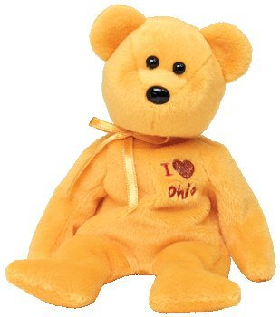TY Beanie Baby - OHIO the Bear (I Love Ohio - State Exclusive) - 1