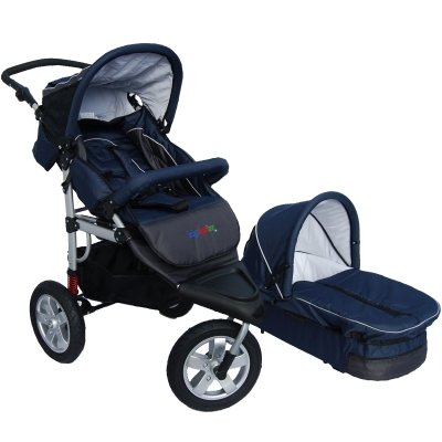 MovieStar! Jogger: pushchair/pram with stable aluminium frame, fully equipped - blue