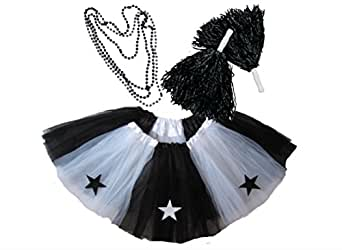 Southern Wrag Co ADULT ALL STAR CHEERLEADER Tutu SET Waist 25-50 Length 16
