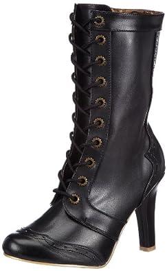 Pleaser Women's Tesla-102 Boot,Black,6 M US