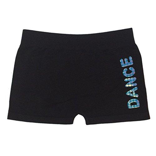 Idea Girl'S Sequin Dance Boyshorts- Turquoise front-771540