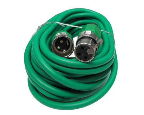 Xlr Male To Female 3Pin Mic Microphone Lo-Z Extension Cable Cord (50Ft, Green)