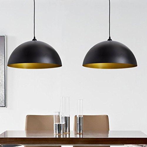 vidaXL-Deckenlampe-Hngeleuchte-Esstisch-Pendellampe-Schwarz-2-tlg