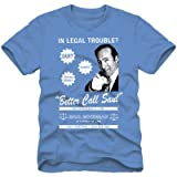 Breaking Bad Legal Troubles Call Saul Mens Lightweight Blue T-Shirt