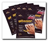 The Glosser Microfiber Cleaning Wipes with Wax, 5 wipes per pkg., CASE OF 6 packages (99006M-C)