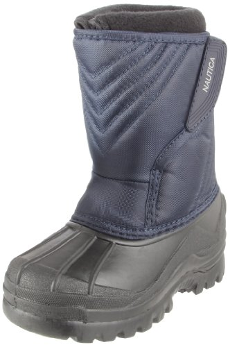 Nautica Alpine Snow Boot (Toddler/Little Kid/Big Kid),Navy/Black,6 M US Big Kid