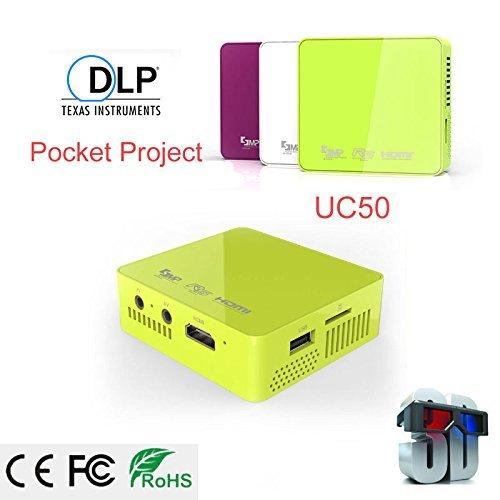 UNIC UC50 HD Mini Projector Home Theater Cinema Projector, LED Mini Portable1080P USB 3D LED Projector