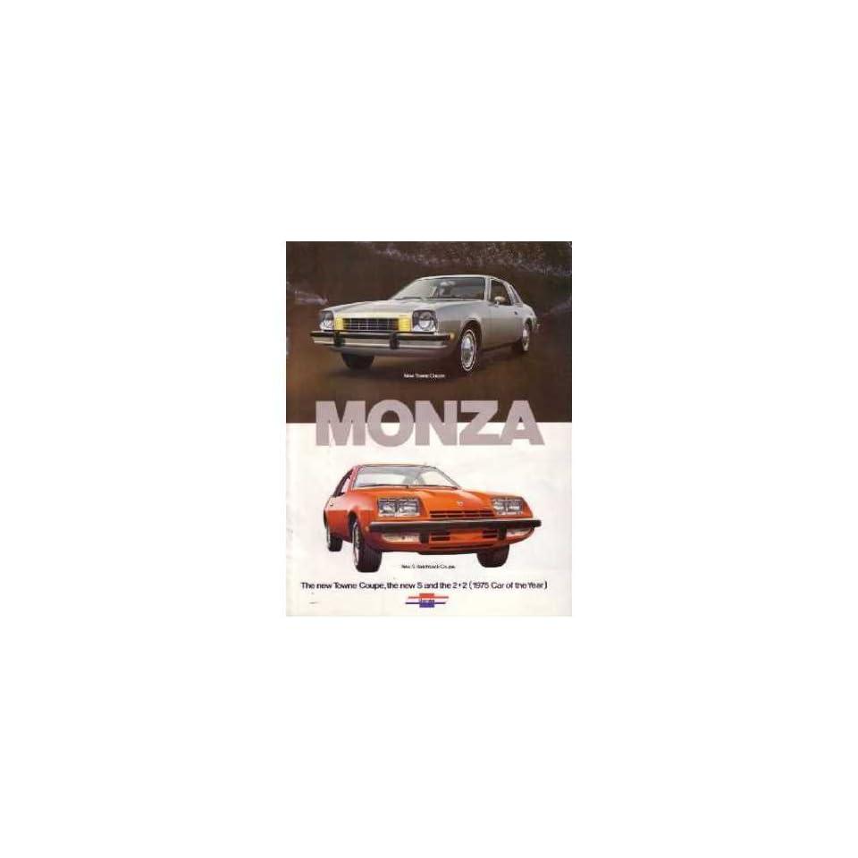 1975 Chevrolet Monza Sales Brochure Literature Book Colors Options Specification