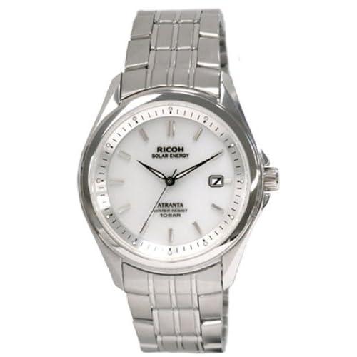 [リコー]RICOH 腕時計 ATRANTA(アトランタ) ソーラー充電 アナログ表示 スタンダード 10気圧防水 バーインデックス ホワイト 697005-02 メンズ