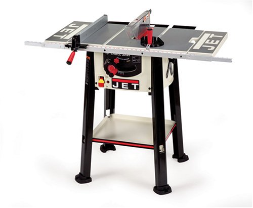JET 708315LSB JBTS-10LS-2 15 Amp Benchtop 10-Inch Table Saw with Fixed Stand and Storage Shelf