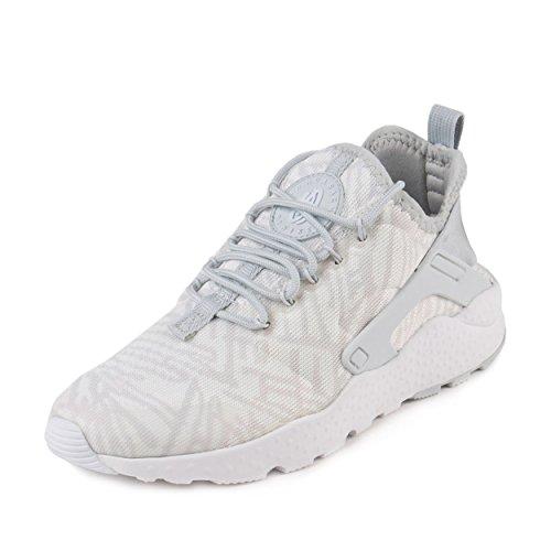 Nike Womens W Air Huarache Run Ultra KJCRD White/Metallic Silver Fabric Size 8