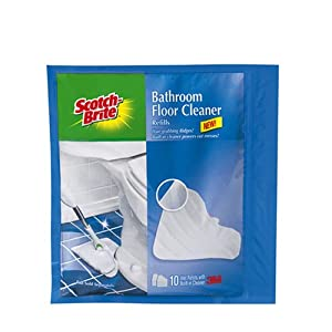 Scotch brite bathroom floor cleaner wet cloth for Bathroom floor cleaning products