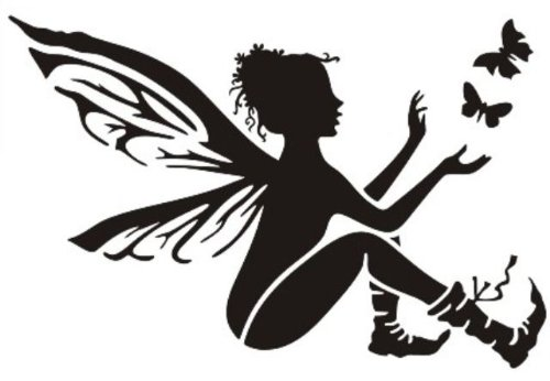 FAIRY No1 Airbrush, Wall Art , Paint Stencil, Genuine Mylar Re-Useable 125 micron