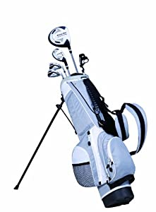 PowerBilt Junior Silver 5 Club Complete Golf Set (4-Feet 4-Inch - 5-Feet, Left Hand)