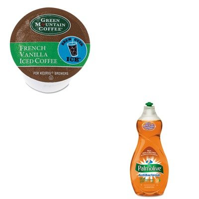 Kitcpm46113Eagmt6832 - Value Kit - Green Mountain Coffee Roasters Brew Over Ice French Vanilla Iced Coffee K-Cups (Gmt6832) And Ultra Palmolive Antibacterial Dishwashing Liquid (Cpm46113Ea)