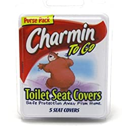Charmin Travel Toilet Seat Covers 5\'S (9 Pieces) Clipstrip