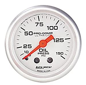 Auto Meter 4321 Ultra-Lite Mechanical Oil Pressure Gauge
