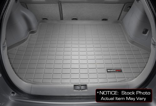 img View detail 2007-2011 GMC Yukon Denali Behind 2nd seat w/o 3rd row seat WeatherTech Grey Cargo Liners All Weather from amazon.com
