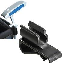 Vktech Golf Bag Clip On Putter Clamp Holder Putting Organizer Club Ball Marker