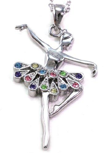 Soulbreezecollection Dancing Ballerina Dancer Ballet Dance Recital Pendant Necklace Charm