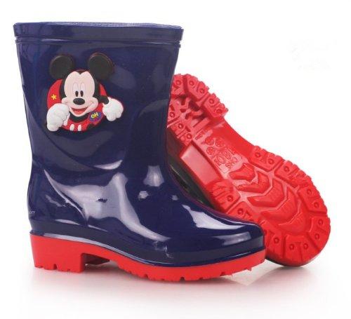 レインブーツ  レインシューズ  キッズ&ベビー&ジュニア(子供用) kids 長靴 ラバーブーツ♪ 男女兼用 長靴 長ぐつ   Disney/ディズニー ミッキー ディープブルー 1セット入れ  並行輸入品