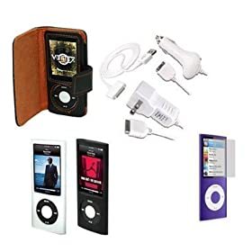 iPod nano 5G Accessories. Premium Essential Accessory Bundle for iPod Nano 5th Generation