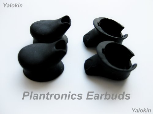 Four Black - Eartips / Earbuds For Plantronics M50 Universal Bluetooth Headset