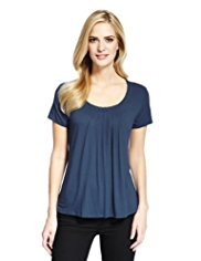 M&S Collection 7 Pleat Top with StayNEW™