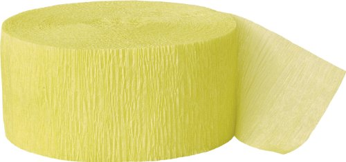 Crepe Paper Streamers, 81 Feet, Canary Yellow (Crepe Paper Steamers compare prices)