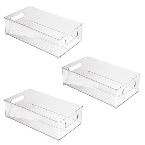 Interdesign 70530M3EU - Contenitori profondi per frigo/congelatore 8 x 4, 3 pz., colore: Trasparente
