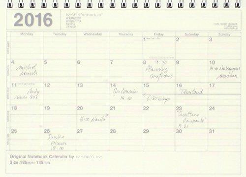 マークス 2016手帳・スケジュール帳【2016年1月始まり】ノートブックカレンダー・S(NB)/アイボリー 16WDR-NB2-IV